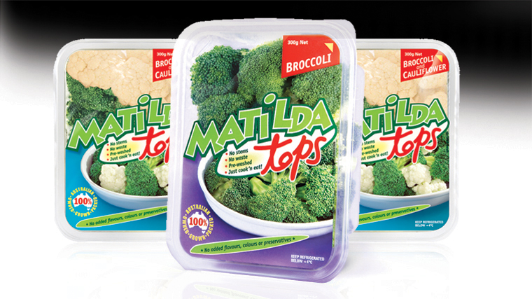 Matilda tops product packaging