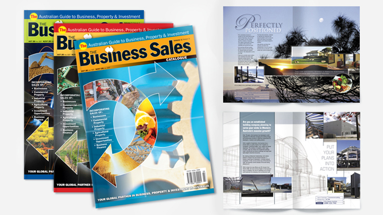 Business sales print marketing material