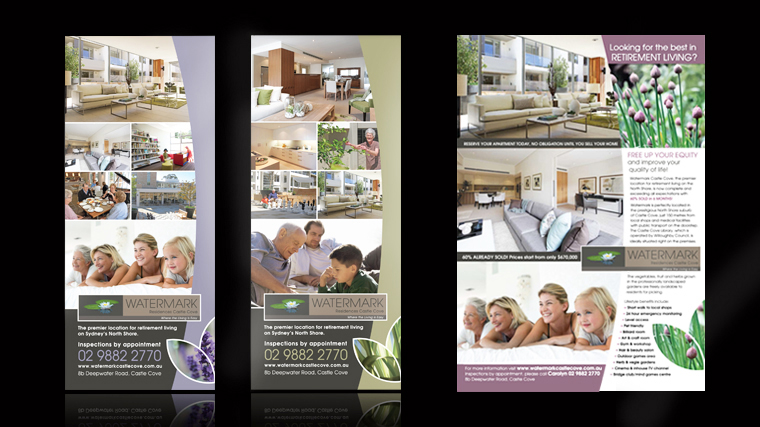 Watermark print marketing material